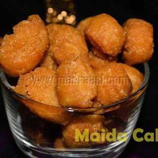 Maida Cake or Maida Biscuits.
