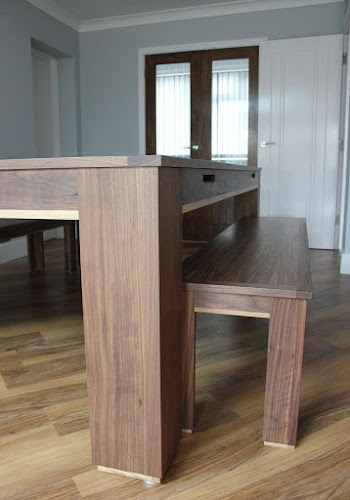 Pool Dining Table with Matching Bench