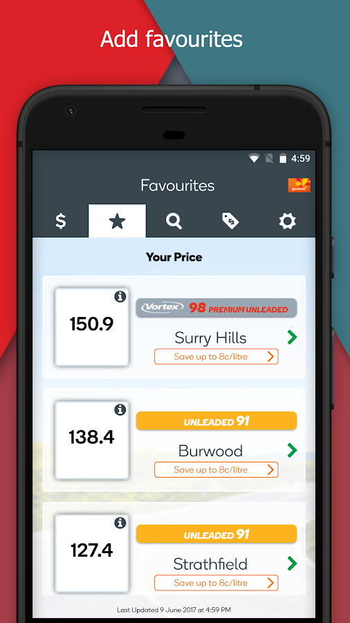 Woolworths Fuel- screenshot