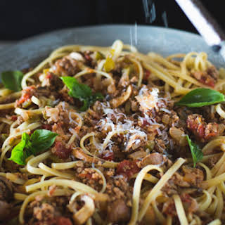 Spaghetti Bolognese with Mushrooms.