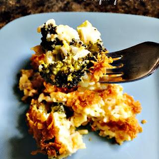 Crockpot Broccoli, Cheese and Rice Casserole.