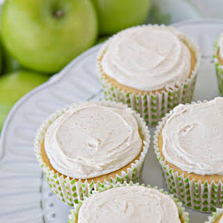 Apple Pie Cupcakes With Cinnamon Cream Cheese Frosting.