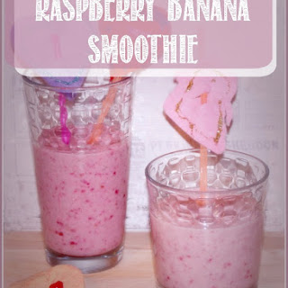 Raspberry Banana Smoothie.