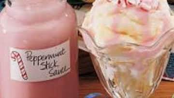"""Peppermint Stick Sauce """"Gift in a jar"""""""
