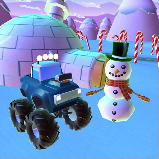Baixar Snowman Monster Car Christmas Train: Gift Collect