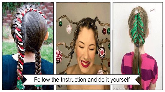 Festive christmas hairstyles apps on google play screenshot image solutioingenieria Choice Image