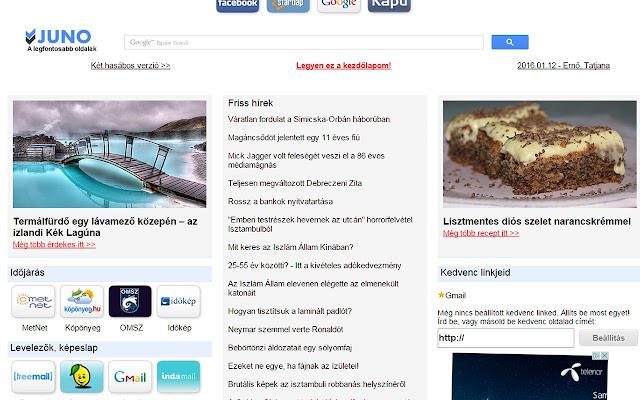 Juno.hu as default opener page