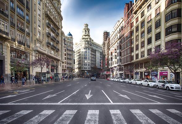 The streets of Valencia di Marcello Zavalloni