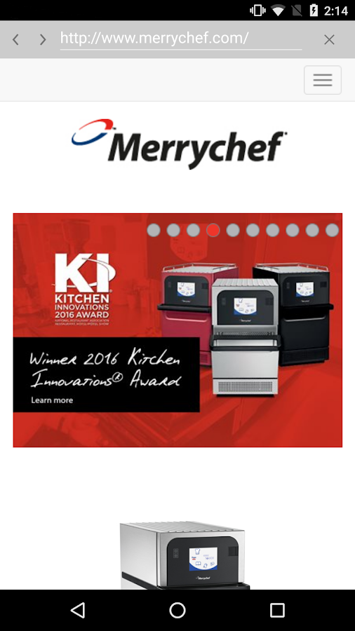 Merrychef® easyTouch™ Mobile- screenshot
