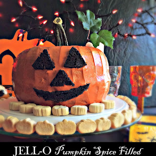 JELL-O Pumpkin Spice Filled Pumpkin Cake