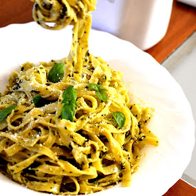 Pasta fun by Daniela Elena - Food & Drink Plated Food ( pesto alla genovese, food, pasta, tagliatelle )