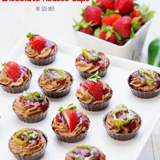 Strawberry Jalapeno Mousse Cups