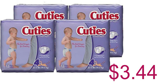 Cuties Baby Diapers just $3.41...