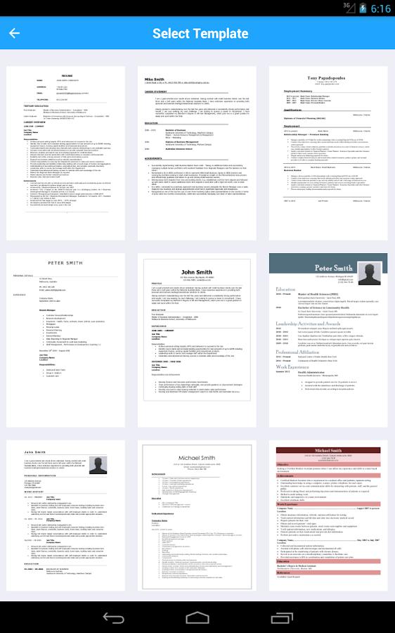 resume creator cv writer designer builder screenshot - Resume Creator