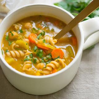 Vegan Chickpea Noodle Soup.