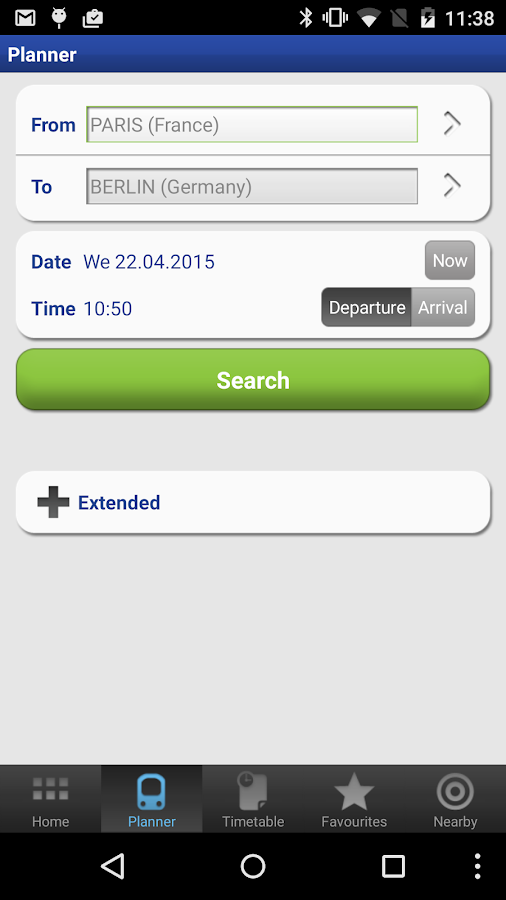 Rail Planner  Eurail/InterRail - screenshot