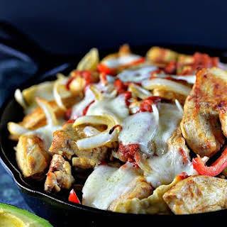Chicken Fajita Nachos.