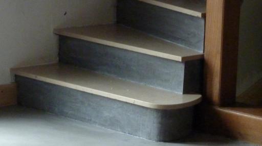 escalier enduit béton ciré