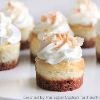 Mini Coconut Cheesecakes.