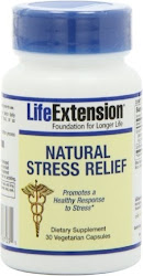 Life Extension Natural Stress Relief Supplement - 30 Vegetarian Capsules