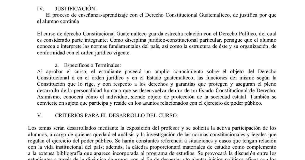 Derecho Constitucional Guatemalteco Doc Google Drive