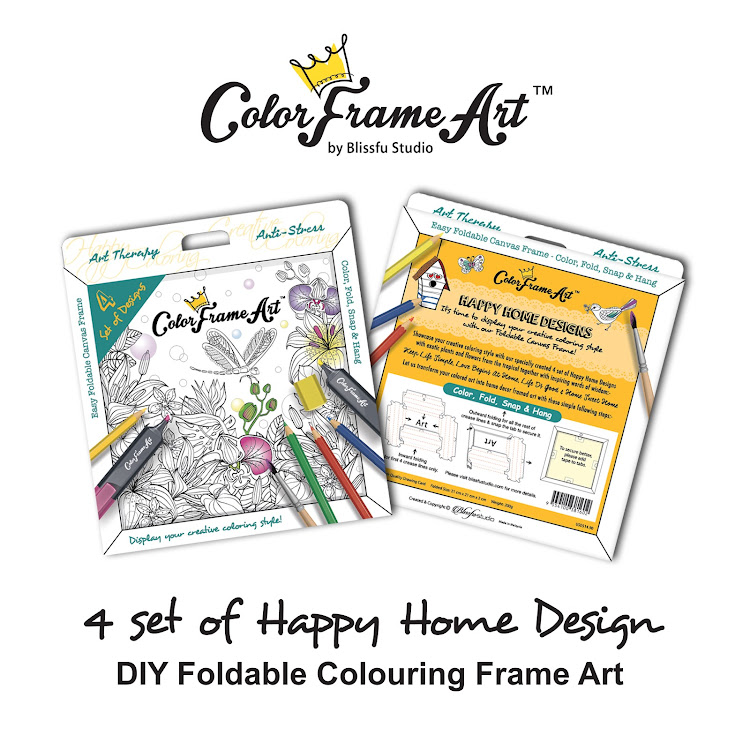 4 Set of Happy Home Design DIY Foldable Frame Art - ColorFrameArt