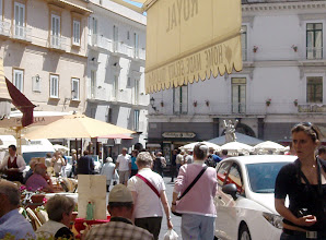 Photo: Amalfi piazza - you can jolly well forget about parking anywhere near there!