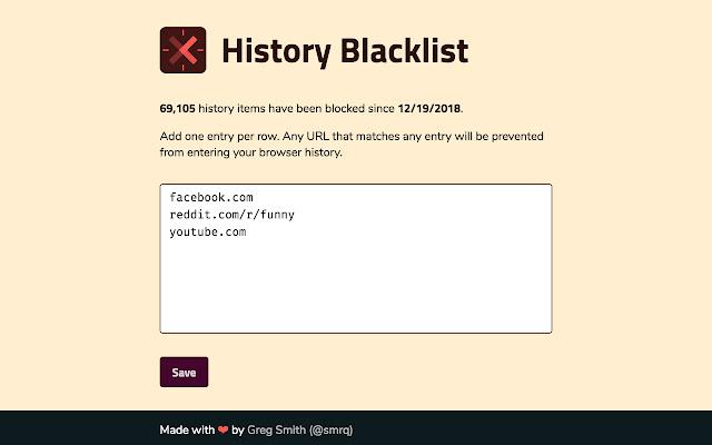 History Blacklist