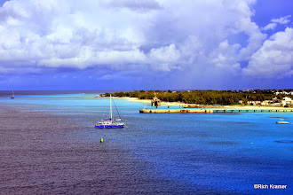 Photo: Grand Turk.  The waters here were a gorgeous turquoise and very clear.