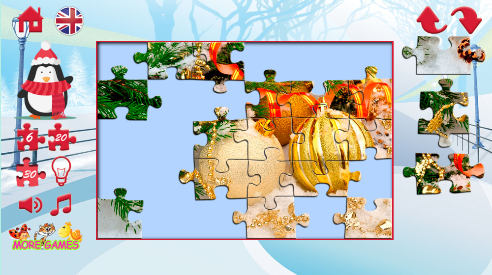 Puzzles New year- screenshot