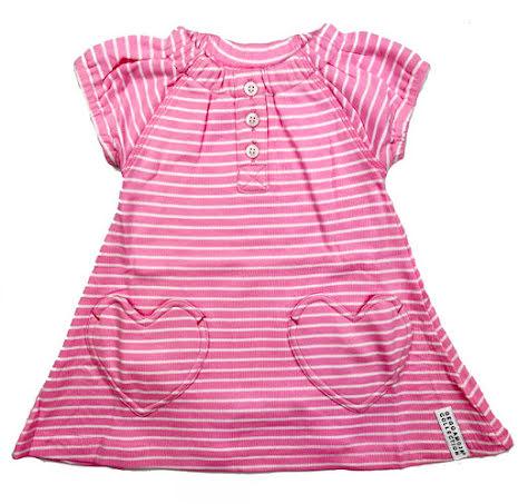 Geggamoja Heart Dress Pink