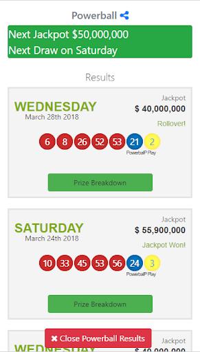 world lotto results screenshot 3
