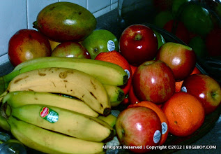 Photo: For some reason, I find it reassuring when our fruit tray is full of ripe colorfull fruit.