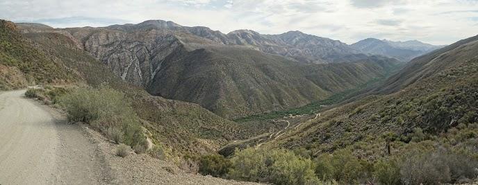Blick vom Elands Pass ins Gamkaskloof Tal