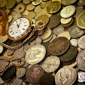 time&money by Dmitry Samsonov - Artistic Objects Antiques ( swiss, time, old, monets, monetas, watch, , object )