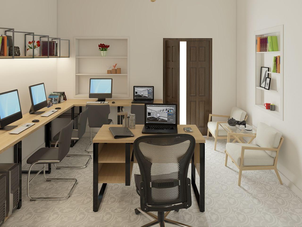 thiết kế văn phòng công ty đẹp nhẹ nhàng