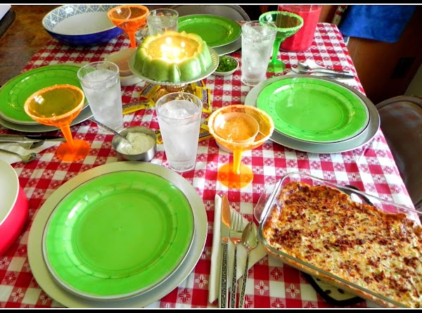 Here is our Cinco de Mayo celebration tablescape all ready to eat some creamy...