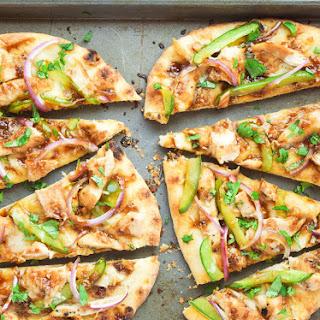 Asian Barbecue Chicken Flatbread PIzza.