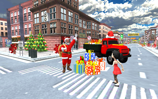 Foto do Christmas Santa Gift Delivery City Driving