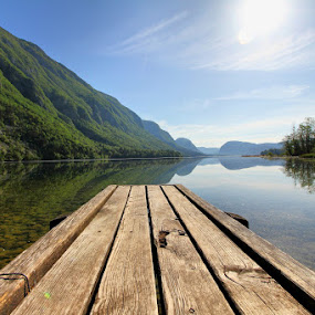 resting on the pier by Anže Papler - Landscapes Waterscapes