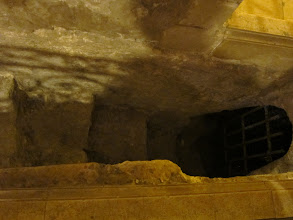 Photo: Steps down into the cave where Joseph and Mary lived