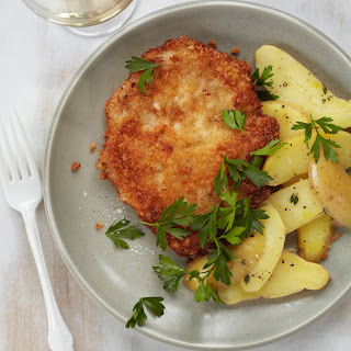 Pork Schnitzel with Warm Potato Salad