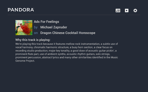 Pandora® Radio for Google TV