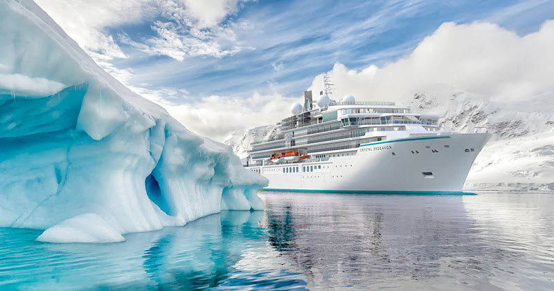 The luxury expedition ship Crystal Endeavor was purpose-built for voyages to the Arctic and Antarctica.