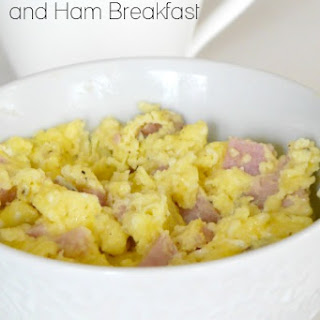 Quick Low Carb Egg and Ham Breakfast.