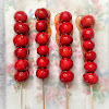 Bing Tanghulu, candied fruit, Candied Hawthorns, caramel fruit, chinese, chinese new year, dessert, recipe, skewer, snack, stick, street, traditional, 冰糖葫蘆