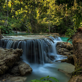 Kuang Si Water falls by Ketan Vikamsey - Landscapes Waterscapes ( pic of the day, canon5dmarkiv, canonusa, wonderful places, beautiful nature, lonelyplanet, lonelyplanetmagazineindia, natgeohd, luang prabang, laos, kuangsi waterfalls, slow shutter, canonphotography, fotorbit, great nature, natgeo, photo of the day, kv kliks, natgeotravel, colourful places, travel the world pix, bbctravels, ketan vikamsey, unesco world heritage )