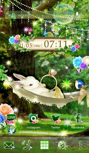Cute Theme Rabbit's Nap Android App Screenshot