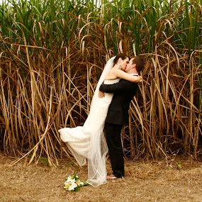 by Joe Wallace - Wedding Bride & Groom