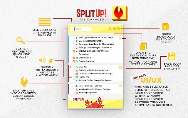 SplitUp! - Tab manager